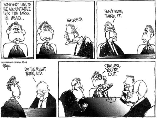 Cartoonist Chip Bok  Chip Bok's Editorial Cartoons 2004-05-24 Secretary of Defense