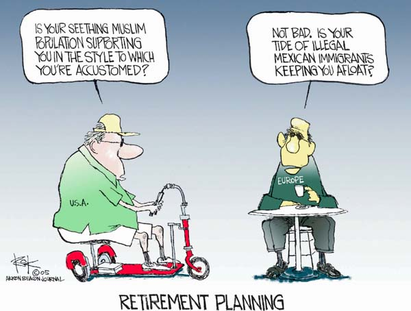 Cartoonist Chip Bok  Chip Bok's Editorial Cartoons 2005-06-05 retirement