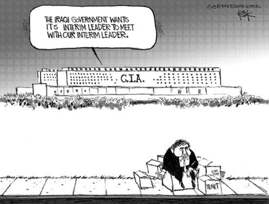 Cartoonist Chip Bok  Chip Bok's Editorial Cartoons 2004-06-07 CIA Director