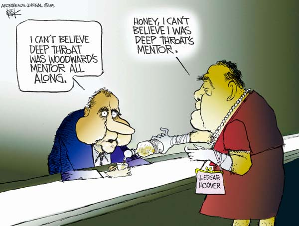 Cartoonist Chip Bok  Chip Bok's Editorial Cartoons 2005-06-07 Richard Nixon