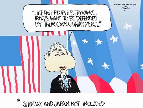 Cartoonist Chip Bok  Chip Bok's Editorial Cartoons 2005-06-30 defense policy
