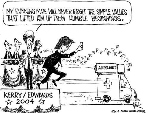 Cartoonist Chip Bok  Chip Bok's Editorial Cartoons 2004-07-09 candidate