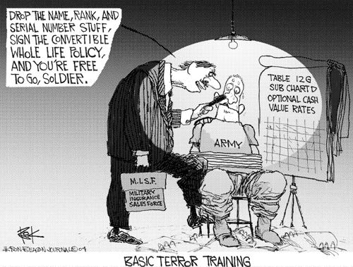 Cartoonist Chip Bok  Chip Bok's Editorial Cartoons 2004-07-21 terror