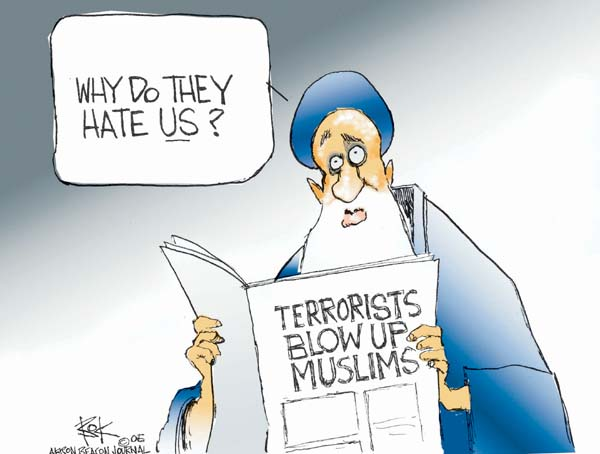 Cartoonist Chip Bok  Chip Bok's Editorial Cartoons 2005-07-27 terror