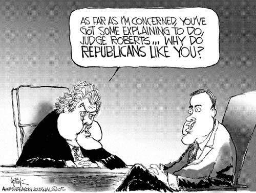 Cartoonist Chip Bok  Chip Bok's Editorial Cartoons 2005-07-29 republican