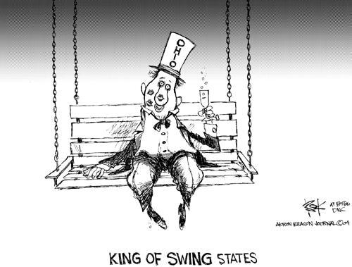 Cartoonist Chip Bok  Chip Bok's Editorial Cartoons 2004-08-03 campaign