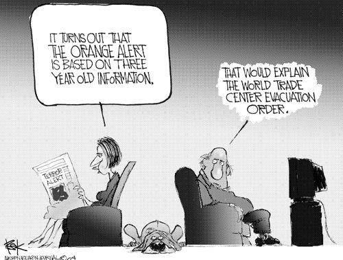 Cartoonist Chip Bok  Chip Bok's Editorial Cartoons 2004-08-05 color