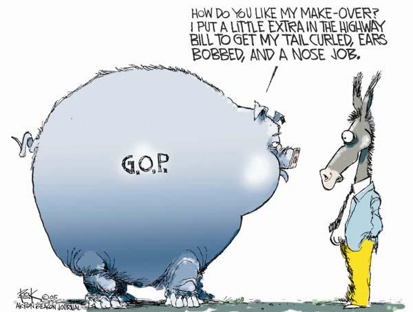 Cartoonist Chip Bok  Chip Bok's Editorial Cartoons 2005-08-11 republican