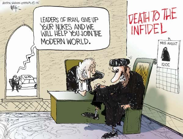 Cartoonist Chip Bok  Chip Bok's Editorial Cartoons 2005-08-15 nationalism