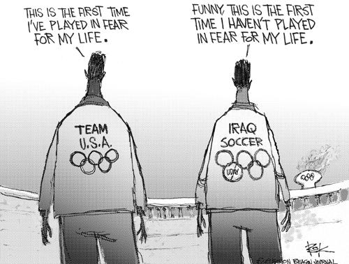 Chip Bok  Chip Bok's Editorial Cartoons 2004-08-16 2004 Olympics