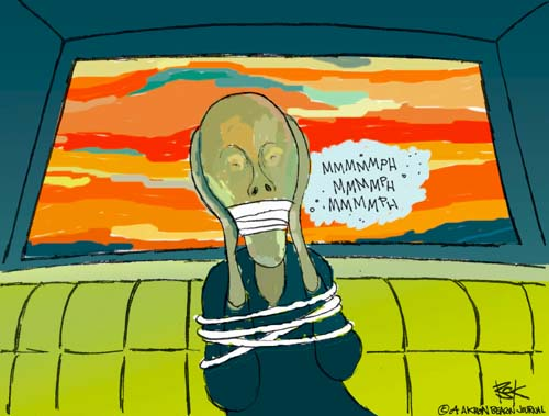 Cartoonist Chip Bok  Chip Bok's Editorial Cartoons 2004-08-24 art