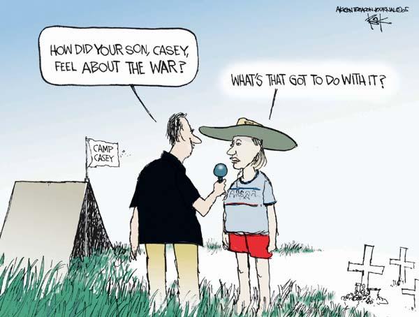Cartoonist Chip Bok  Chip Bok's Editorial Cartoons 2005-08-26 Crawford, Texas