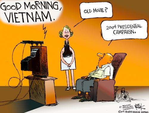 Cartoonist Chip Bok  Chip Bok's Editorial Cartoons 2004-08-30 veteran