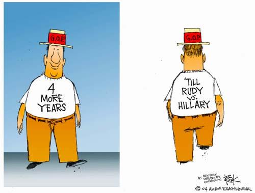 Cartoonist Chip Bok  Chip Bok's Editorial Cartoons 2004-09-01 republican