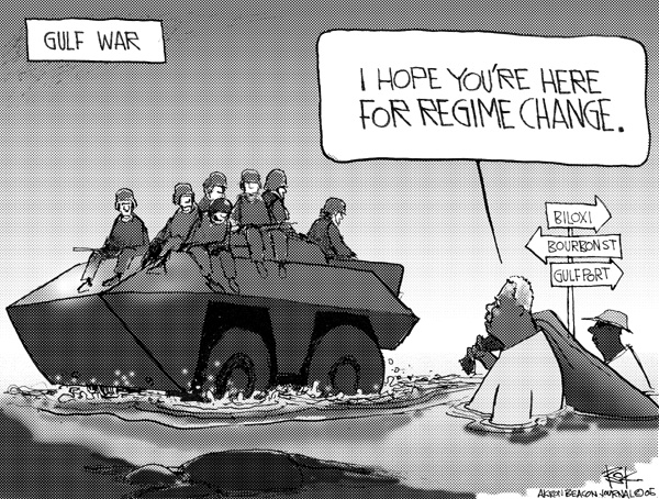 Cartoonist Chip Bok  Chip Bok's Editorial Cartoons 2005-09-04 tank