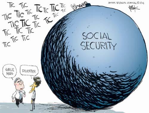 Girlie man.  Deserter.  Tic tic tic tic tic tic tic tic…. Social Security.
