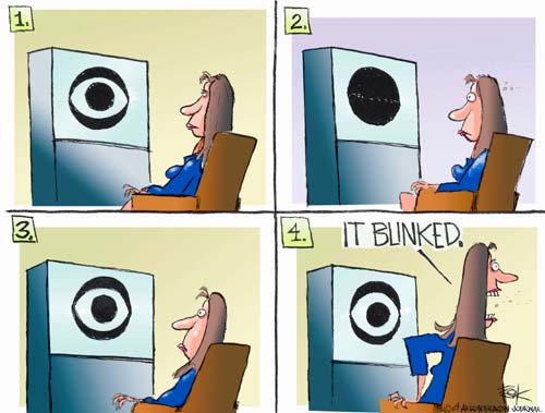 Cartoonist Chip Bok  Chip Bok's Editorial Cartoons 2004-09-22 television