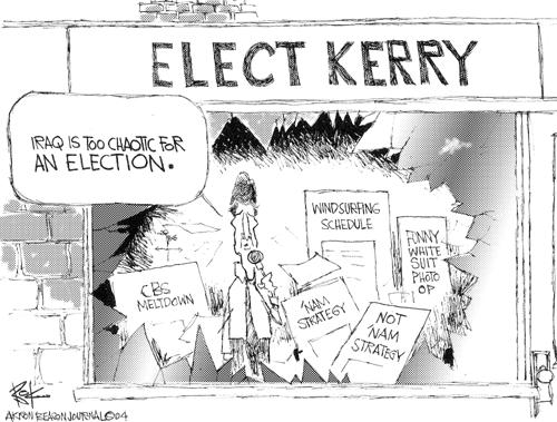 Cartoonist Chip Bok  Chip Bok's Editorial Cartoons 2004-09-27 candidate
