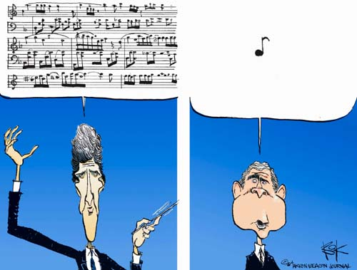 Cartoonist Chip Bok  Chip Bok's Editorial Cartoons 2004-10-01 candidate