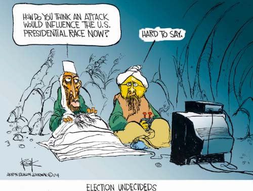 Chip Bok  Chip Bok's Editorial Cartoons 2004-10-06 hard