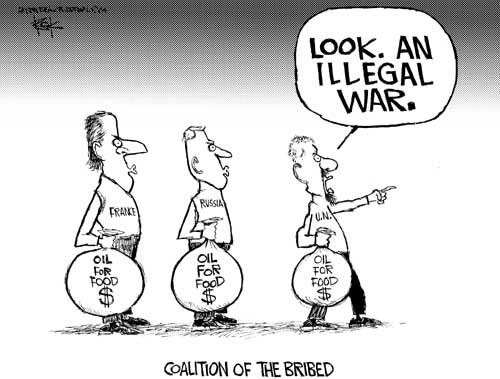 Cartoonist Chip Bok  Chip Bok's Editorial Cartoons 2004-10-11 bribe