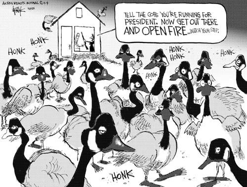 Cartoonist Chip Bok  Chip Bok's Editorial Cartoons 2004-10-22 rifle
