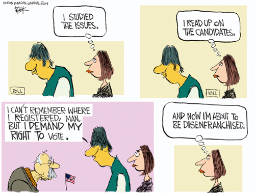 Cartoonist Chip Bok  Chip Bok's Editorial Cartoons 2004-10-26 presidential candidate