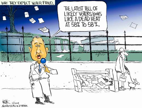 Cartoonist Chip Bok  Chip Bok's Editorial Cartoons 2004-10-28 credibility