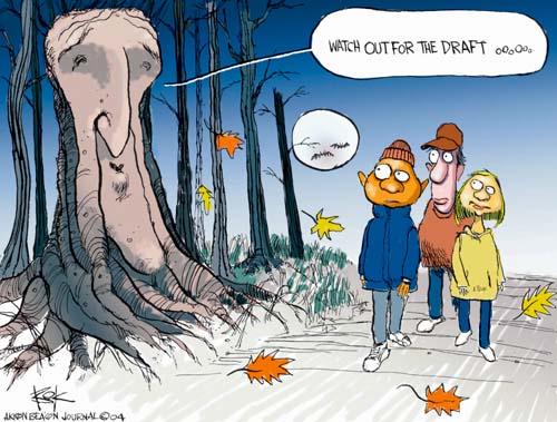 Cartoonist Chip Bok  Chip Bok's Editorial Cartoons 2004-10-29 fear