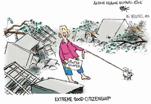 Chip Bok  Chip Bok's Editorial Cartoons 2005-09-20 Hurricane Katrina