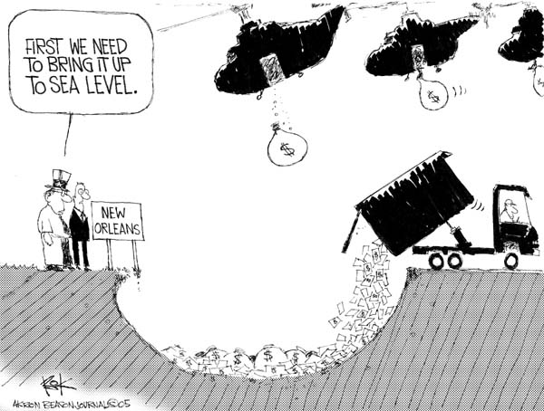 Chip Bok  Chip Bok's Editorial Cartoons 2005-09-27 Orleans