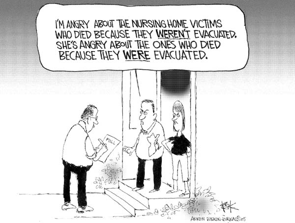 Chip Bok  Chip Bok's Editorial Cartoons 2005-09-27 Hurricane Katrina