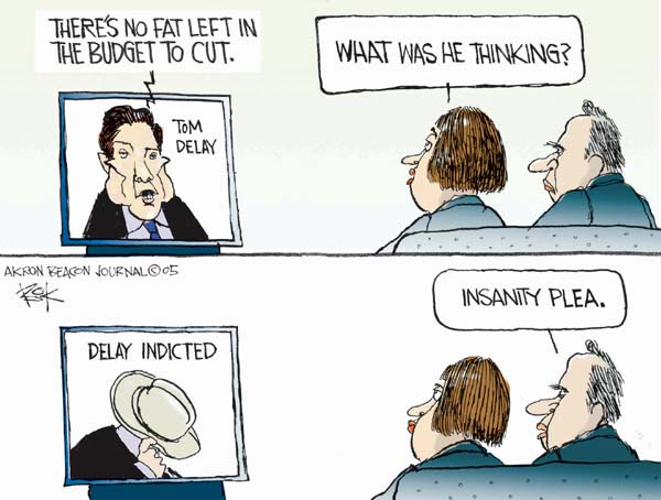 Chip Bok  Chip Bok's Editorial Cartoons 2005-09-30 insanity
