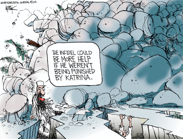 Chip Bok  Chip Bok's Editorial Cartoons 2005-10-11 Hurricane Katrina
