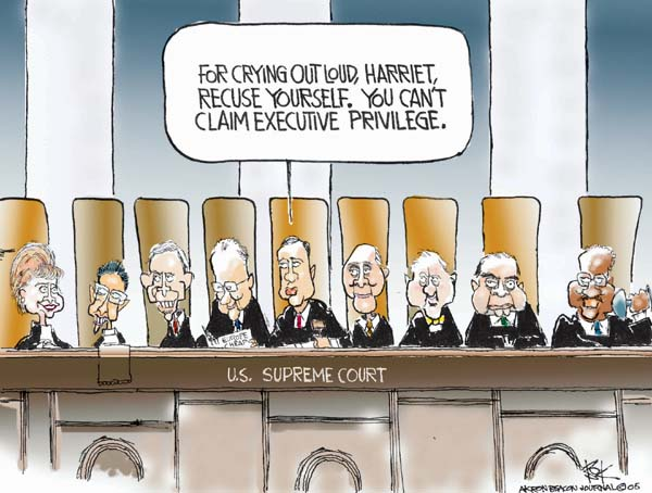 Cartoonist Chip Bok  Chip Bok's Editorial Cartoons 2005-10-14 court