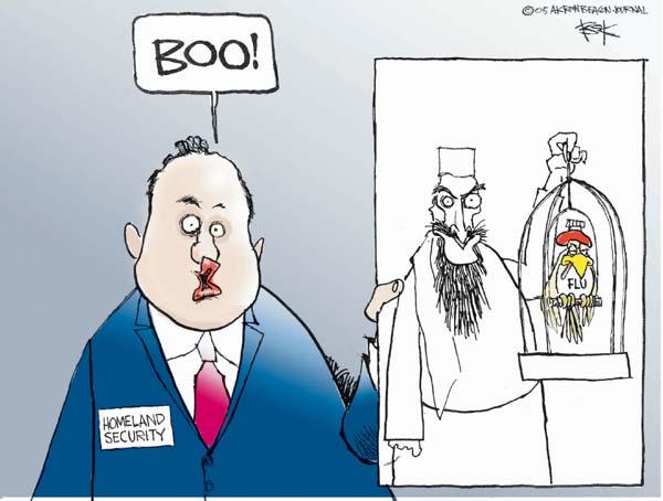 Chip Bok  Chip Bok's Editorial Cartoons 2005-10-17 homeland defense