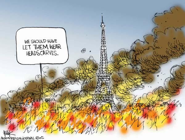 Cartoonist Chip Bok  Chip Bok's Editorial Cartoons 2005-11-08 Paris