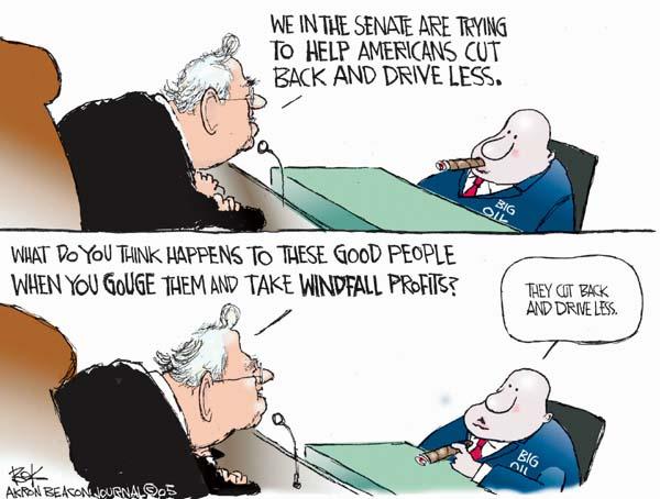 Cartoonist Chip Bok  Chip Bok's Editorial Cartoons 2005-11-14 windfall