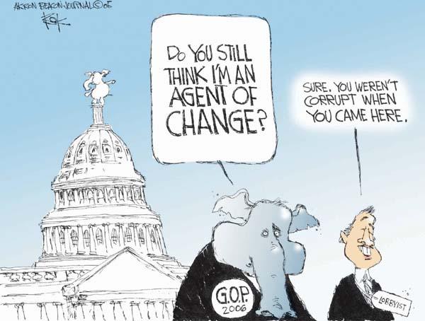 Cartoonist Chip Bok  Chip Bok's Editorial Cartoons 2005-11-30 republican