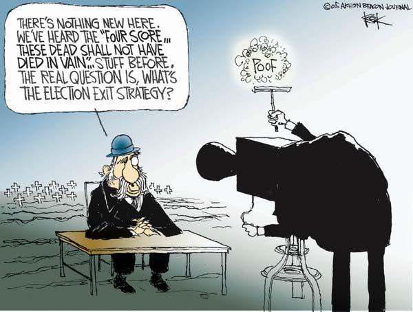 Cartoonist Chip Bok  Chip Bok's Editorial Cartoons 2005-12-01 media bias