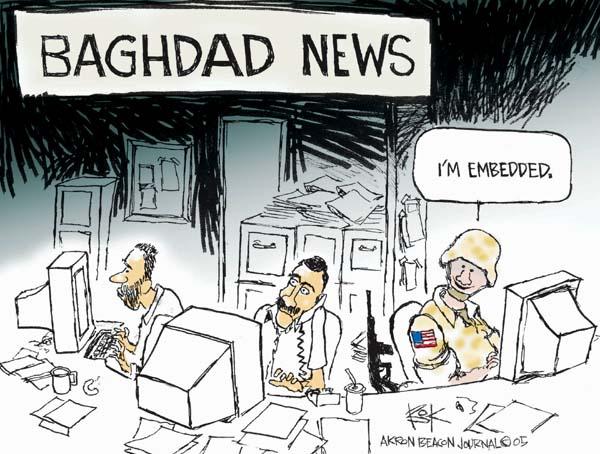 Cartoonist Chip Bok  Chip Bok's Editorial Cartoons 2005-12-05 media credibility