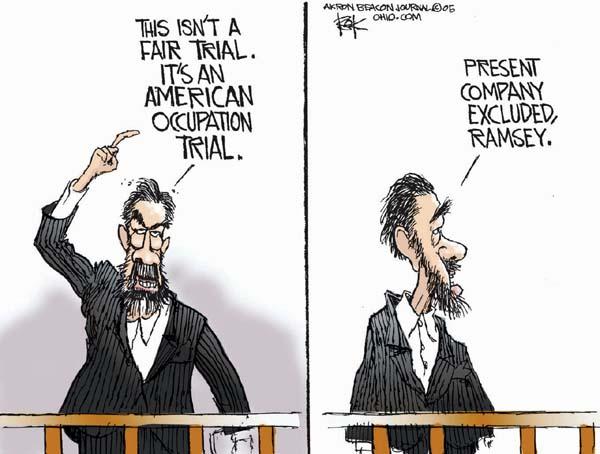 Cartoonist Chip Bok  Chip Bok's Editorial Cartoons 2005-12-12 court