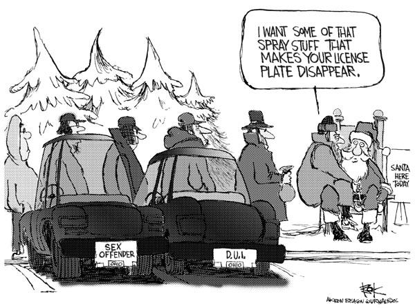 Cartoonist Chip Bok  Chip Bok's Editorial Cartoons 2005-12-13 driving safety