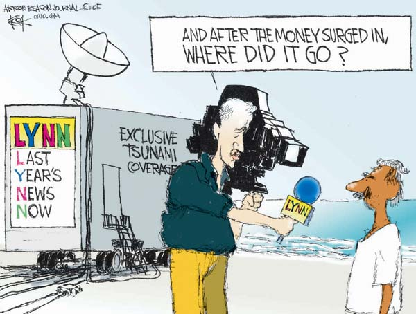Chip Bok  Chip Bok's Editorial Cartoons 2005-12-28 media coverage