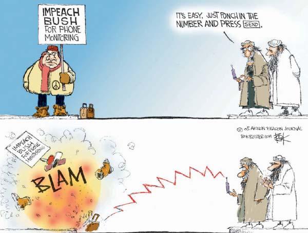 Chip Bok  Chip Bok's Editorial Cartoons 2005-12-29 homeland defense
