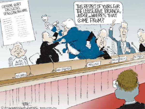 Cartoonist Chip Bok  Chip Bok's Editorial Cartoons 2006-01-12 separation of powers