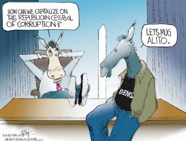 Cartoonist Chip Bok  Chip Bok's Editorial Cartoons 2006-01-13 republican