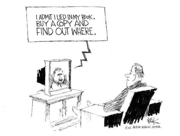Cartoonist Chip Bok  Chip Bok's Editorial Cartoons 2006-01-16 honesty