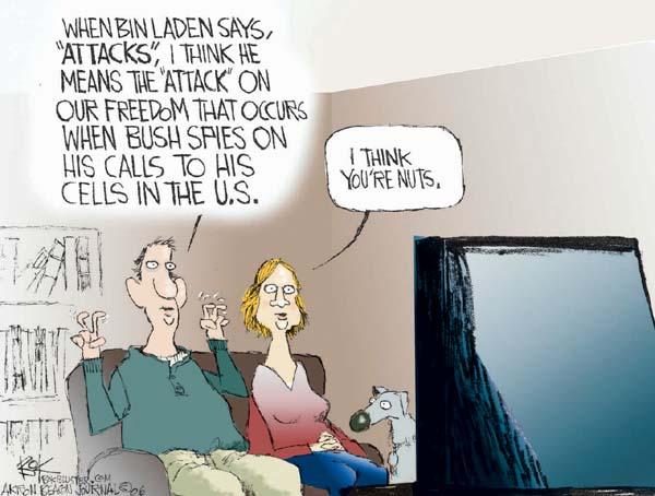 Chip Bok  Chip Bok's Editorial Cartoons 2006-01-20 NSA surveillance