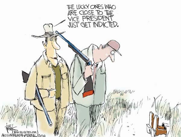 Cartoonist Chip Bok  Chip Bok's Editorial Cartoons 2006-02-17 rifle